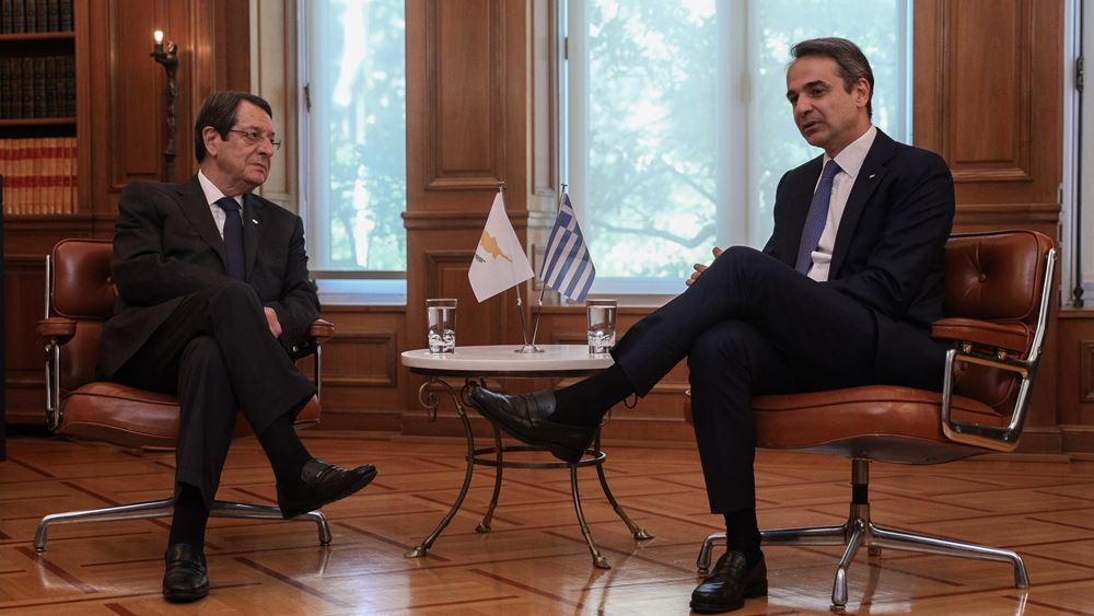 Μητσοτάκης προς Αναστασιάδη: Η πλήρης στήριξη της Ελλάδας στην Κύπρο είναι αυτονόητη