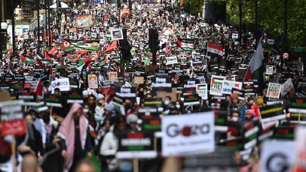 Βρετανία: Διαδήλωση στο Λονδίνο υπέρ των Παλαιστινίων