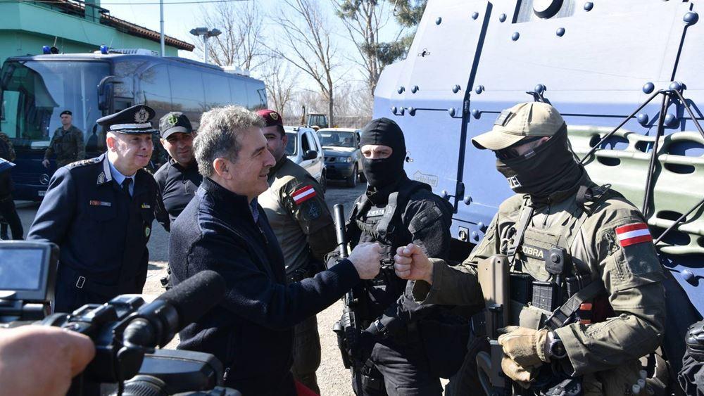 Στον Έβρο ο Μ. Χρυσοχοΐδης μαζί με τον εκτελεστικό διευθυντή του FRONTEX