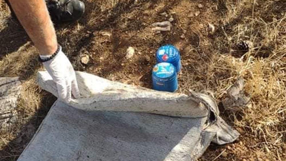 Βρέθηκαν γκαζάκια στο δασάκι της Αργυρούπολης