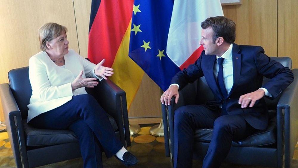 Σύνοδος Κορυφής: Μέρκελ και Μακρόν τόνισαν την ανάγκη να προχωρήσει γρήγορα το Ταμείο Ανάκαμψης