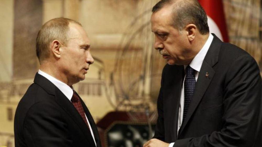Στο πλευρό του Ερντογάν ο Πούτιν: Παράνομες οι κυρώσεις των ΗΠΑ