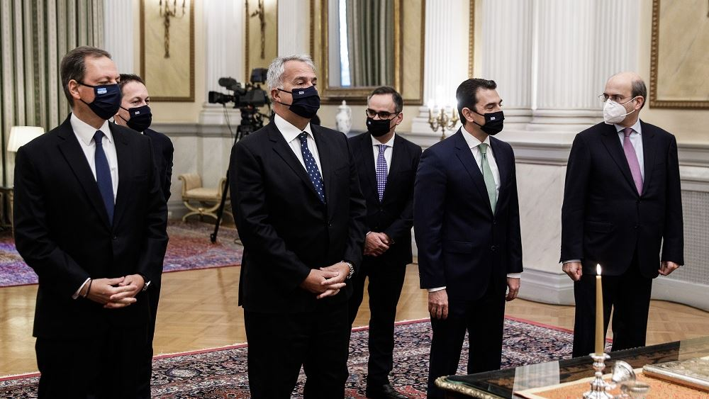Ορκωμοσία των νέων υπουργών και υφυπουργών της κυβέρνησης 05.01.2021