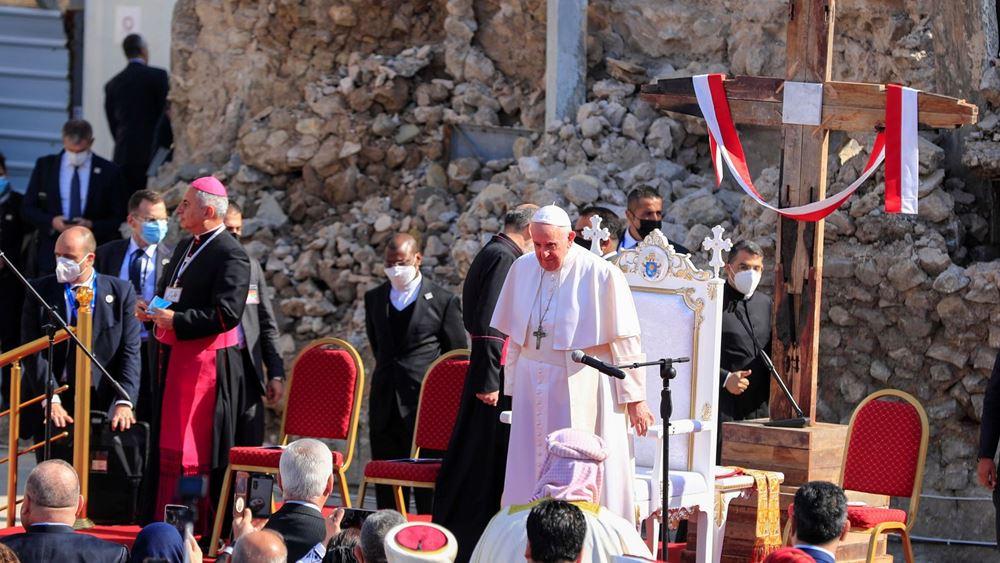 Ιράκ: Την κατεστραμμένη από τους τζιχαντιστές Μοσούλη επισκέπτεται ο Πάπας