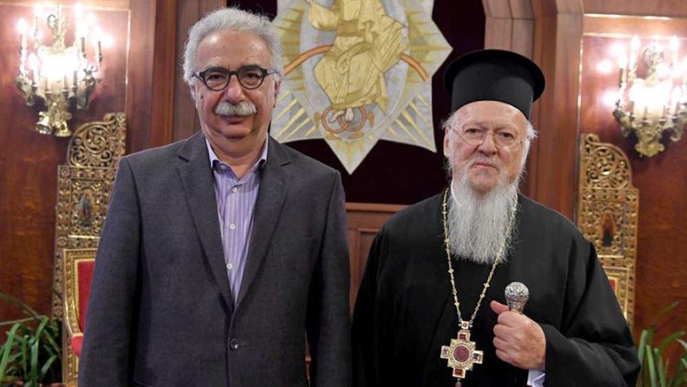 Γαβρόγλου: Θα μεταφέρω τους προβληματισμούς του Οικουμενικού Πατριάρχη