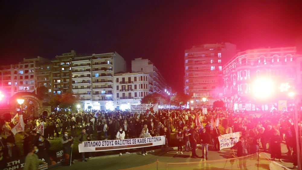 Πορεία και αντιφασιστική συναυλία στο κέντρο της Θεσσαλονίκης