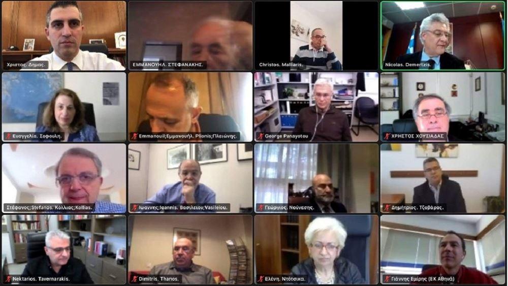 Συζήτηση Χρ. Δήμα με τους προέδρους των Ερευνητικών Κέντρων