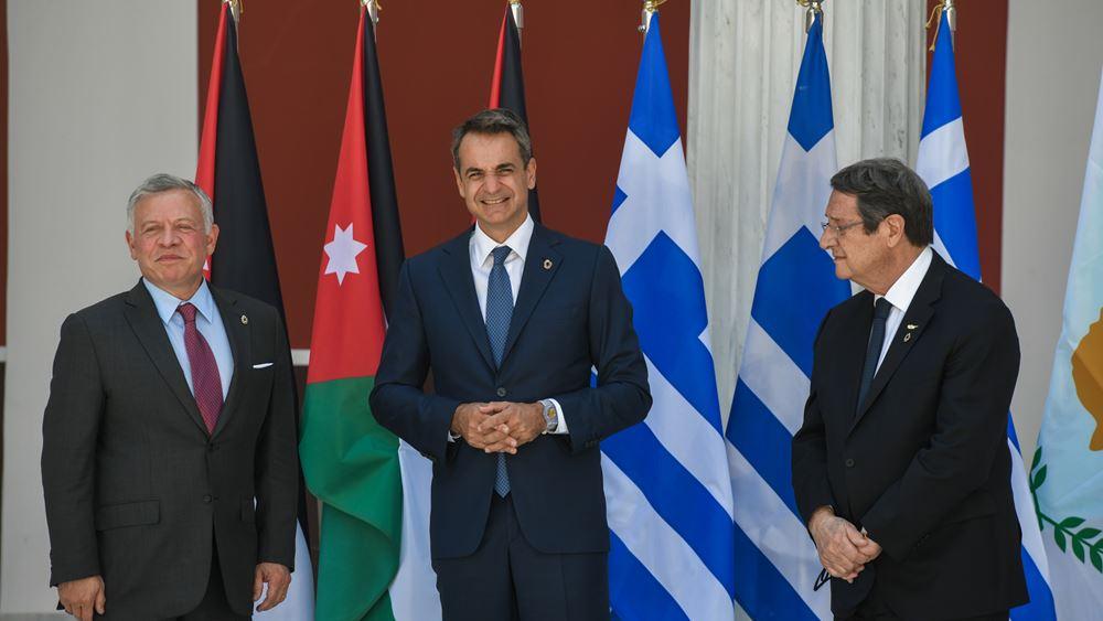 Κοινή δήλωση Ελλάδας - Ιορδανίας - Κύπρου: Δίκαιη, συνολική και βιώσιμη επίλυση του Κυπριακού