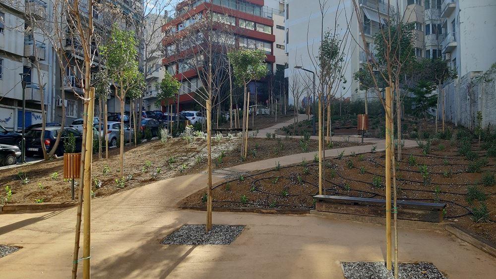 """Δήμος Αθηναίων: Έτοιμο ακόμη ένα """"Pocket Park"""" 750τ.μ. στο Παγκράτι"""