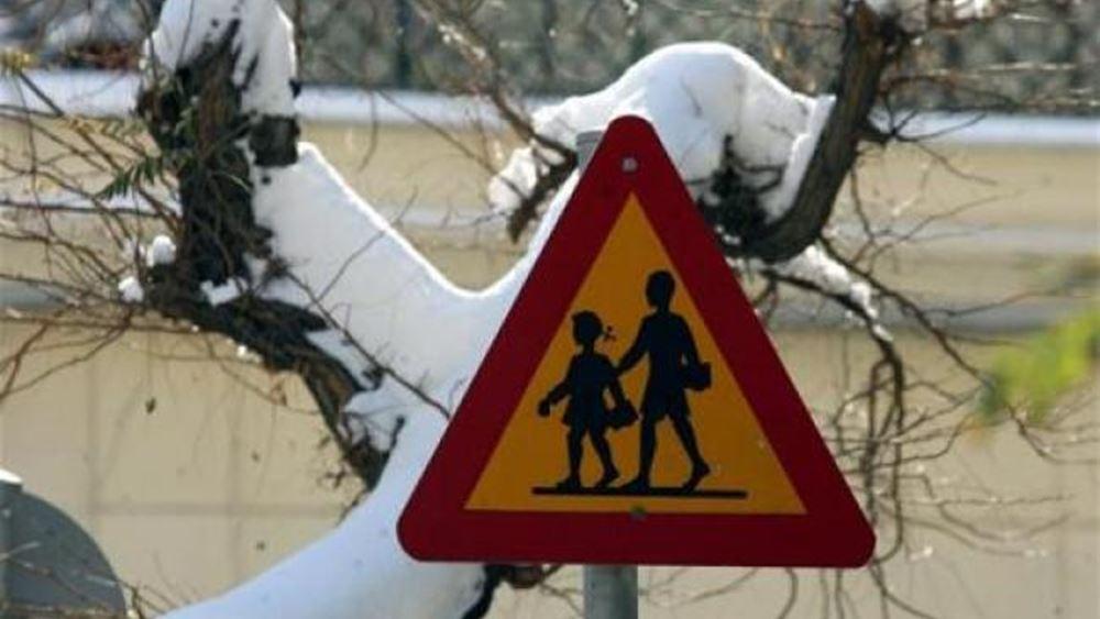 Προβλήματα σε πολλές σχολικές μονάδες της δυτικής Μακεδονίας από το χιόνι