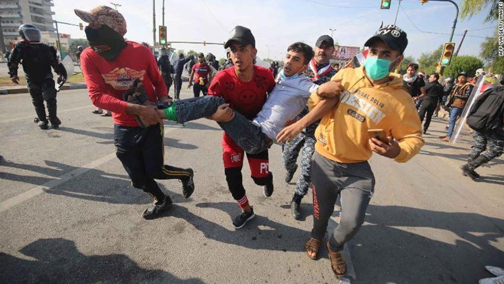 Ιράκ: Άλλοι τουλάχιστον 10 διαδηλωτές σκοτώθηκαν χθες στη Βαγδάτη και στη Βασόρα