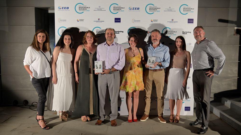 Δύο χρυσά βραβεία για την Ολυμπία Οδό στα Βραβεία Υπεύθυνης Επιχειρηματικότητας 2021