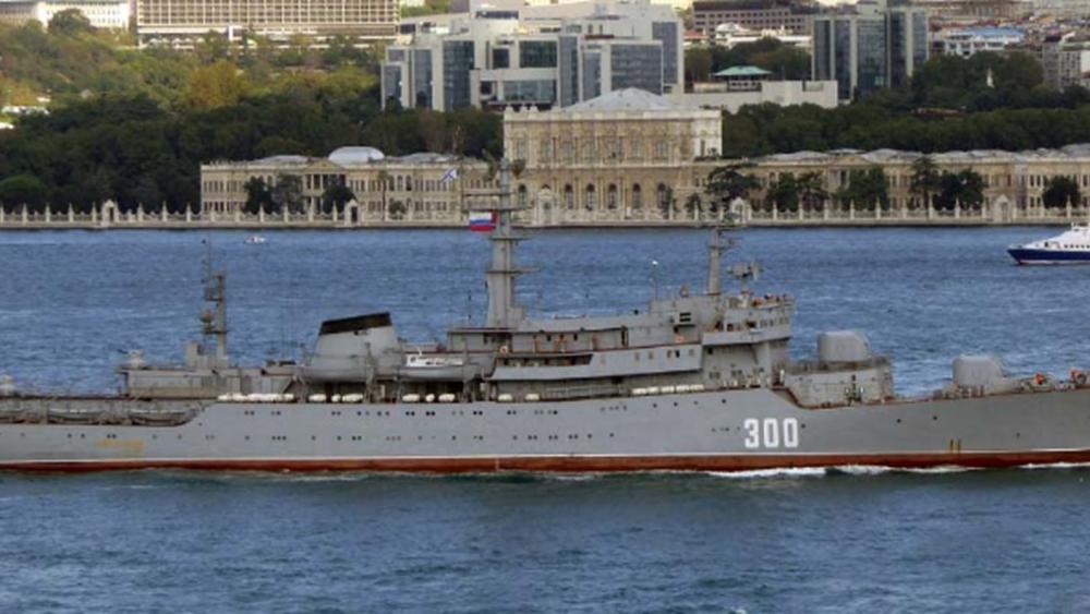 Ρωσικό πολεμικό πλοίο στο λιμάνι της Θεσσαλονίκης