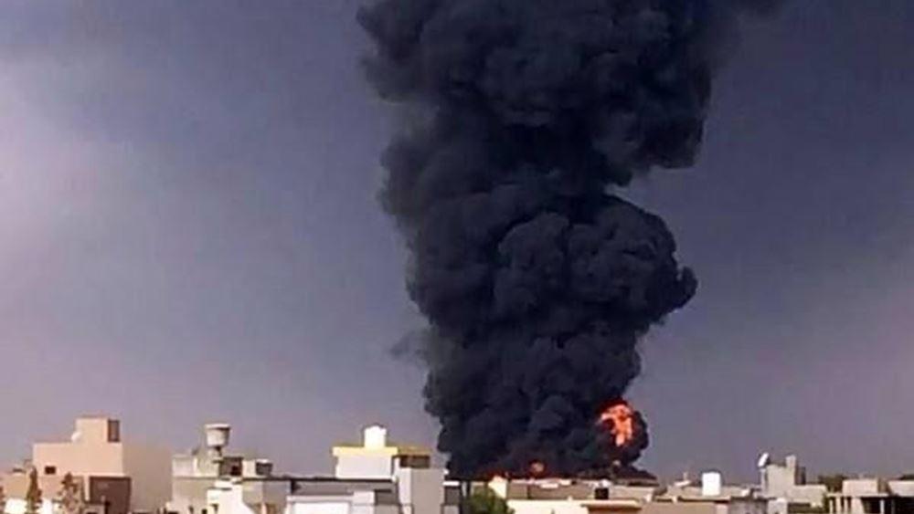 Λιβύη: Οι δυνάμεις του Χάφταρ βομβάρδισαν το κέντρο ελέγχου για drones στο κεντρικό αεροδρόμιο της Τρίπολης