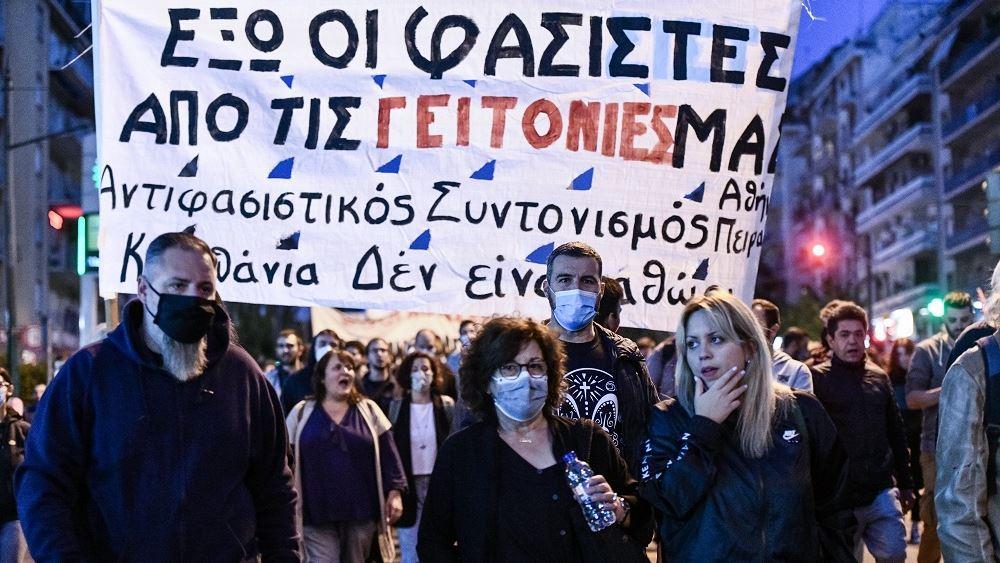 Αντιφασιστικό συλλαλητήριο στο κέντρο της Αθήνας