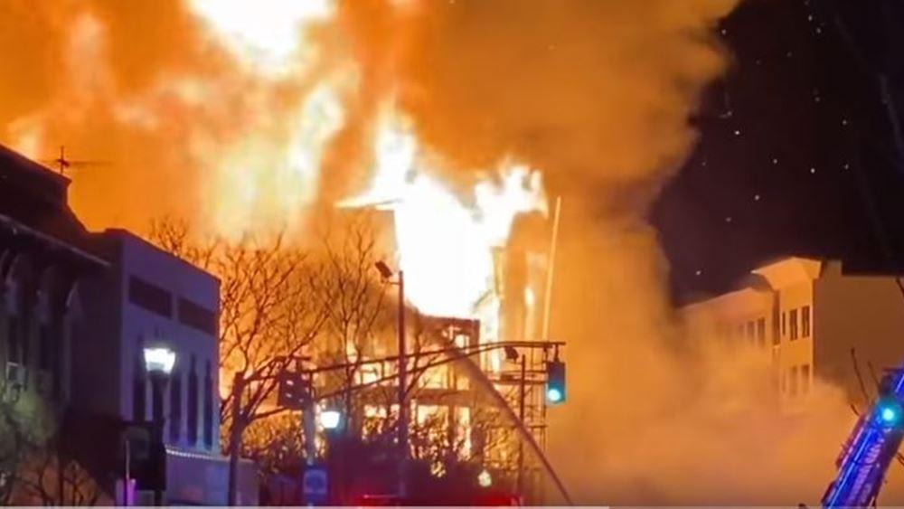 ΗΠΑ: Περίπου 3.000 άνθρωποι χωρίς ρεύμα λόγω μεγάλης πυρκαγιάς στο Νιου Τζέρσεϊ