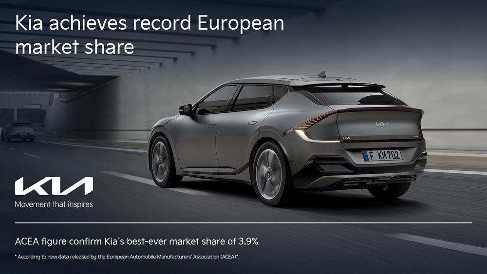 Η Κία επιτυγχάνει το καλύτερο μερίδιο αγοράς στην Ευρώπη