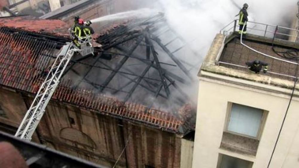 Ιταλία: Πυρκαγιά εκδηλώθηκε στο ιστορικό κτιριακό συγκρότημα Καβαλερίτσα Ρεάλε