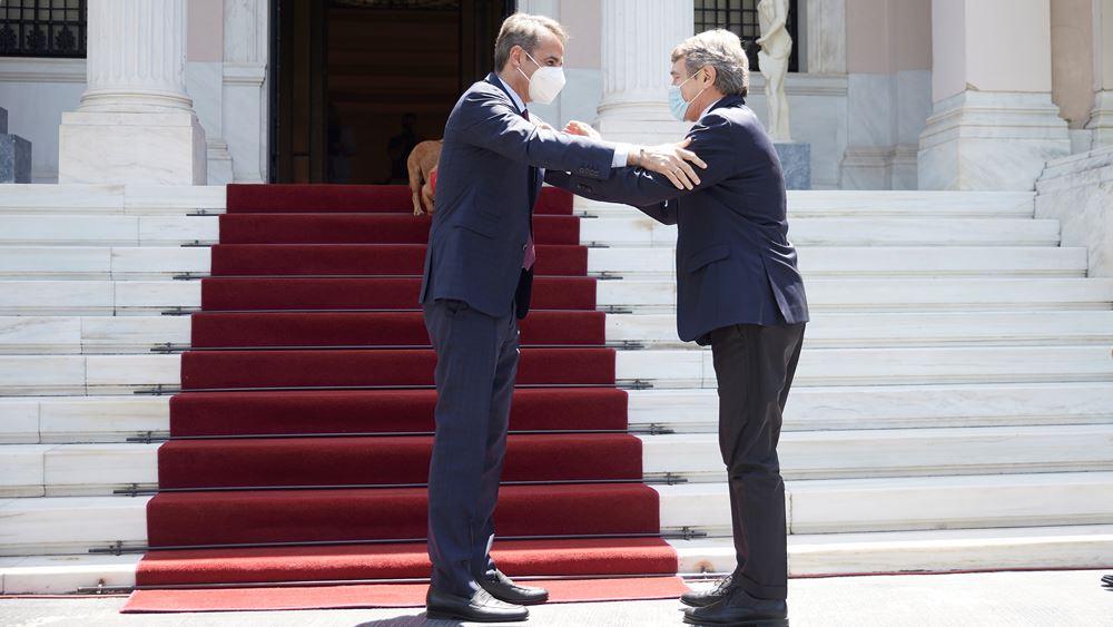 Κ. Μητσοτάκης-Ν. Σασόλι: Το Ταμείο Ανάκαμψης να καταστεί μόνιμο χρηματοδοτικό εργαλείο της Ε.Ε.