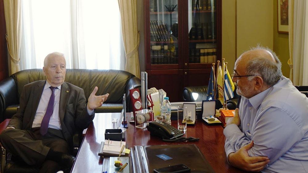 Συνάντηση Μουτζούρη - Ζορπίδη στο ΕΕΘ