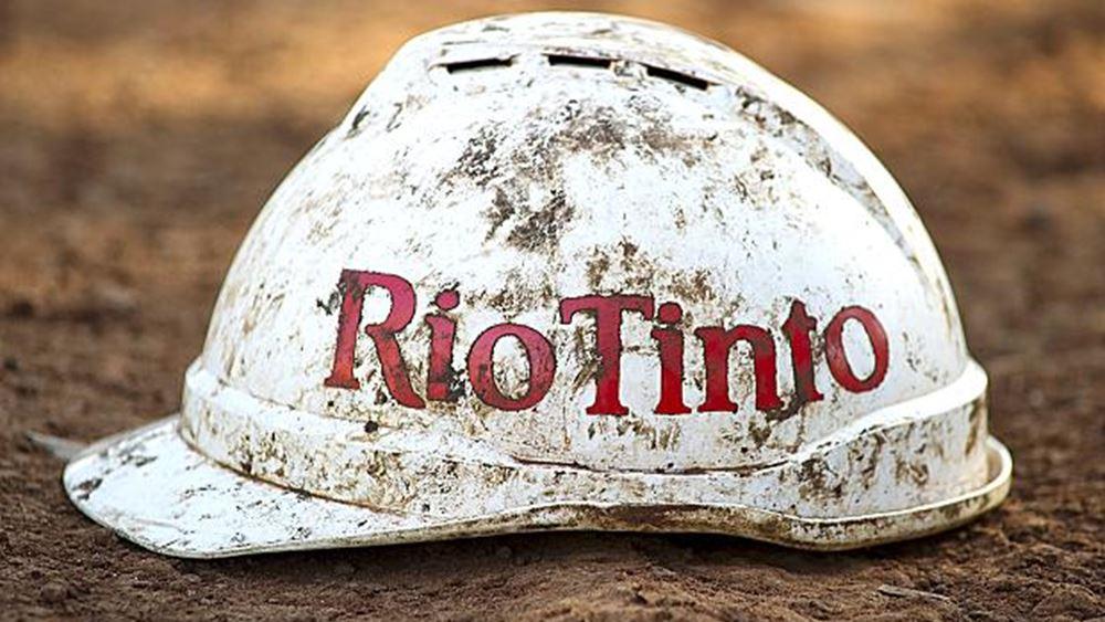 Rio Tinto: Αύξησε το προμέρισμα παρά την πτώση κερδών κατά 20%