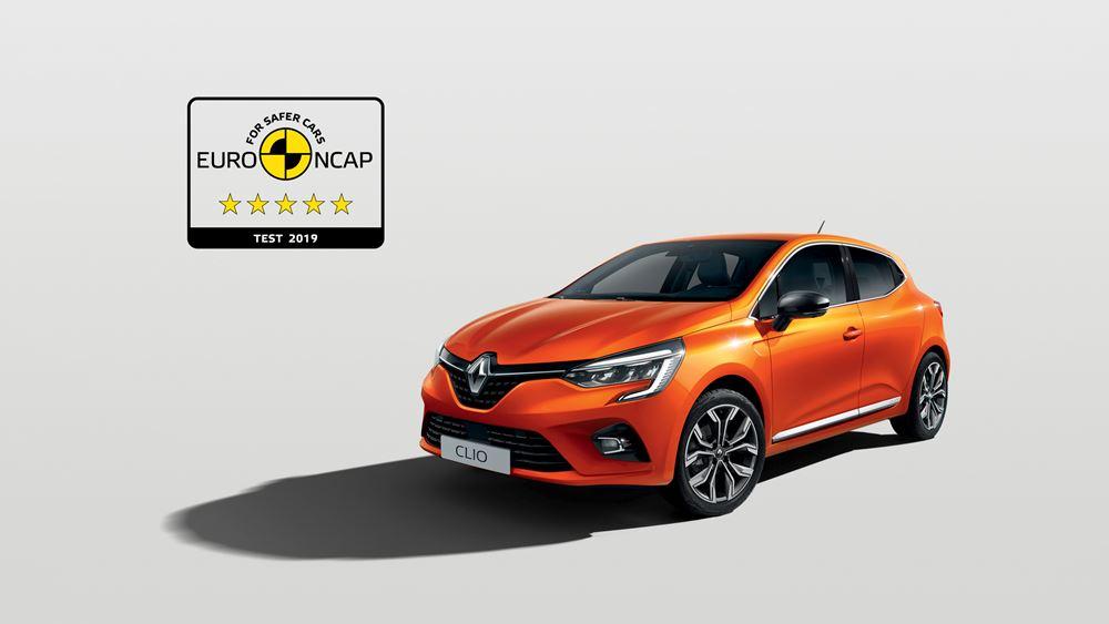 Το νεο Clio προσφέρει ασφάλεια 5 αστέρων