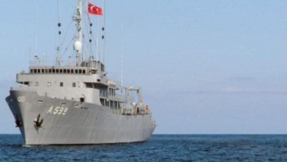 """""""Περιοδεία"""" του τουρκικού """"Τσεσμέ"""" στο Αιγαίο συνοδεία πολεμικών πλοίων"""