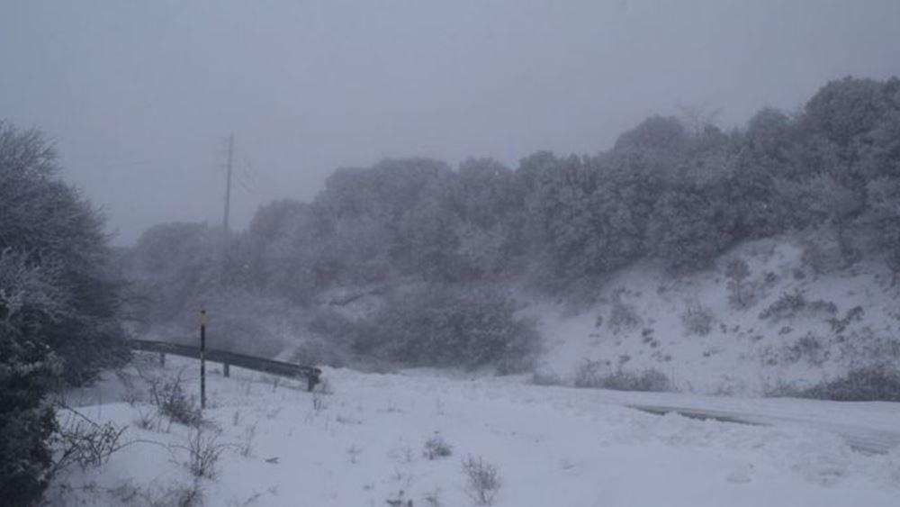 μυτιλήνη-χιόνι
