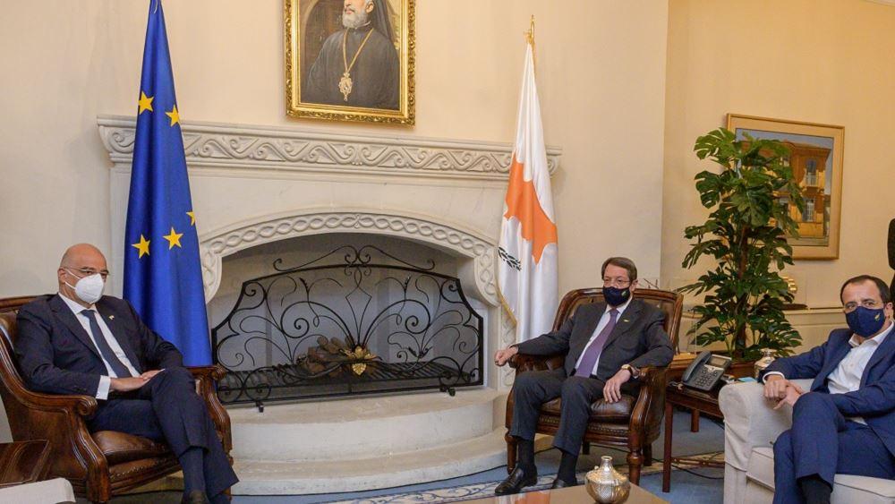 Δένδιας: Απόλυτος συντονισμός Ελλάδας-Κύπρου για τα επόμενα βήματα κατά της τουρκικής επιθετικότητας