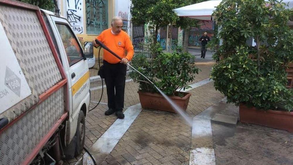 Δήμος Αθηναίων: Μεγάλη παρέμβαση καθαριότητας στην περιοχή του Ψυρρή