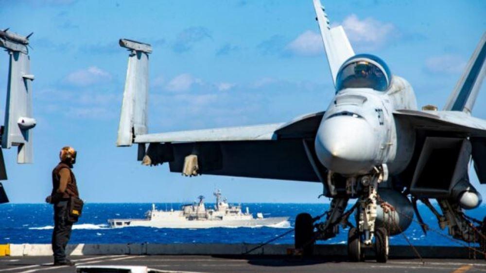 Συνεκπαίδευση μονάδων του ΠΝ και της ΠΑ με δύναμη κρούσης του αμερικανικού αεροπλανοφόρου  EISENHOWER