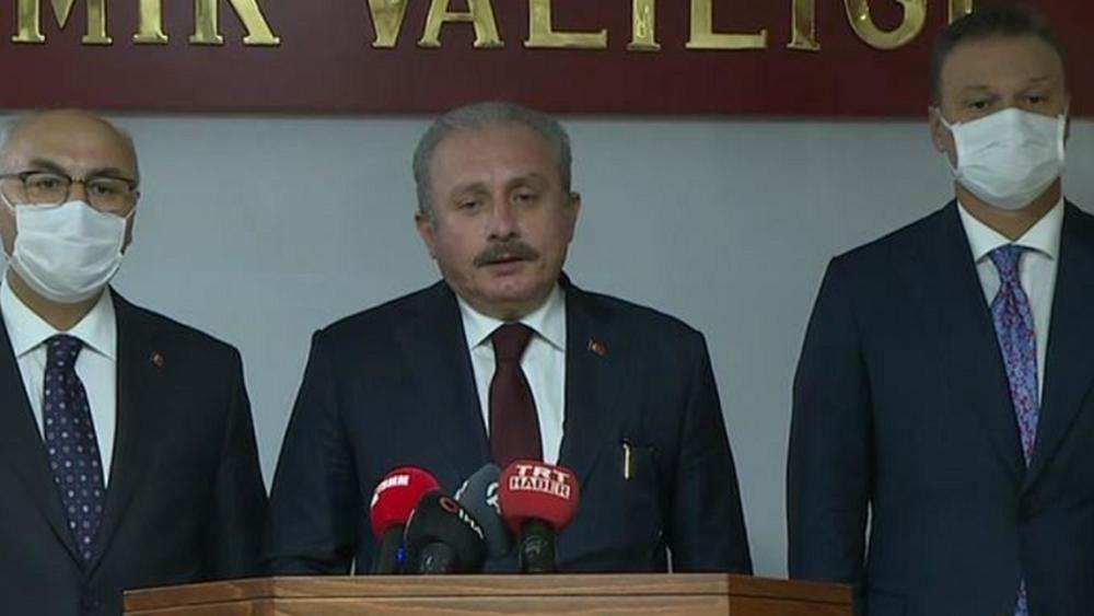 Υποδείξεις και απειλές από τον πρόεδρο της Τουρκικής Εθνοσυνέλευσης