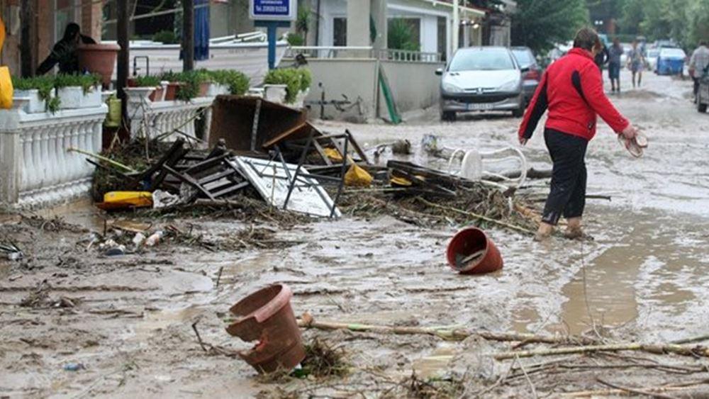 Εκτεταμένες καταστροφές στον νομό Τρικάλων από την κακοκαιρία