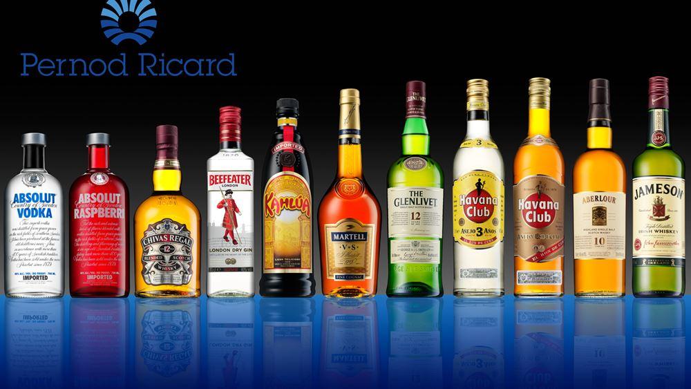Αυξήθηκαν οι πωλήσεις της Pernod Ricard