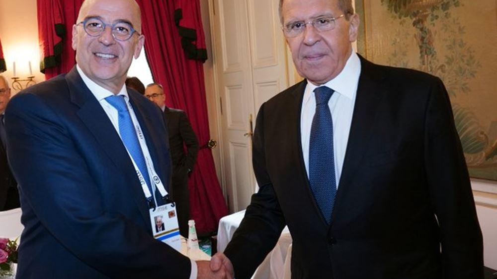 Επικοινωνία Ν. Δένδια με τον Ρώσο υπουργό Εξωτερικών Σ. Λαβρόφ