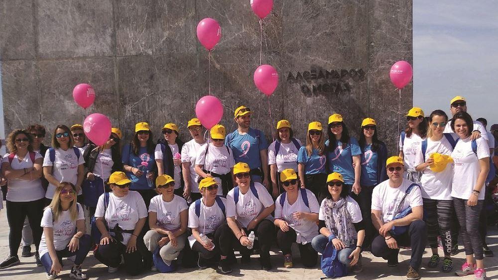 Ηομάδα της Τράπεζας Πειραιώς συμμετείχε στον φιλανθρωπικό αγώνα Sail for Pink στη Θεσσαλονίκη