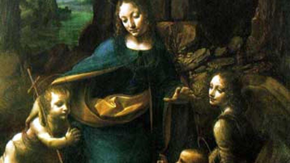 """Ανακαλύφθηκαν, με ακτίνες Χ, τα αρχικά προσχέδια της """"Παρθένου των Βράχων"""" του Λεονάρντο ντα Βίντσι"""
