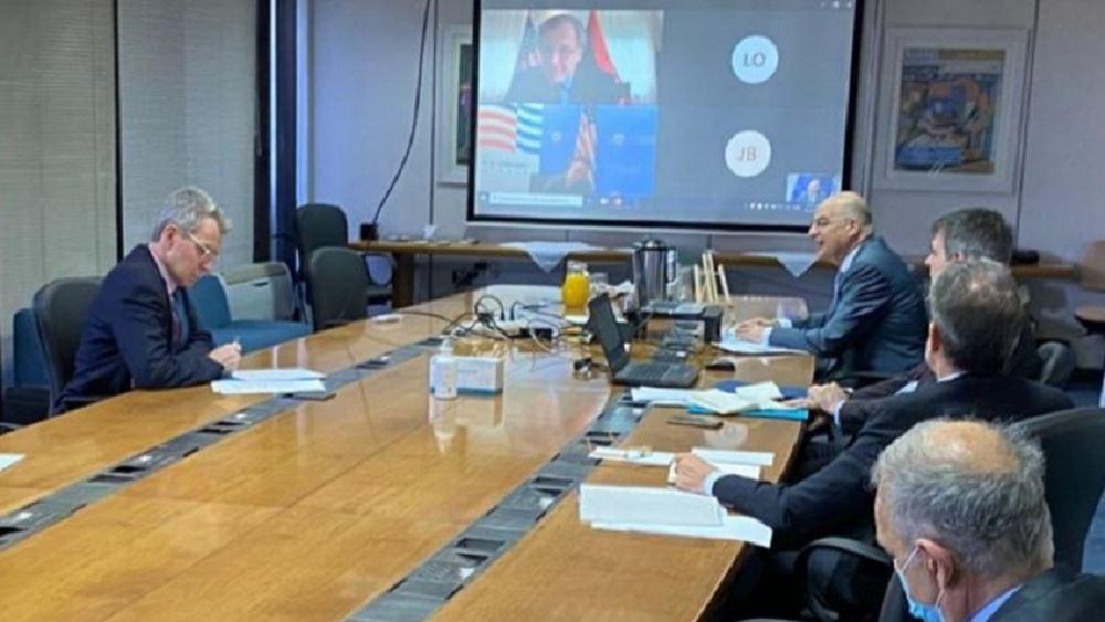 Τηλεφωνική επικοινωνία Ν. Δένδια με τον πρέσβη των ΗΠΑ στη Λιβύη
