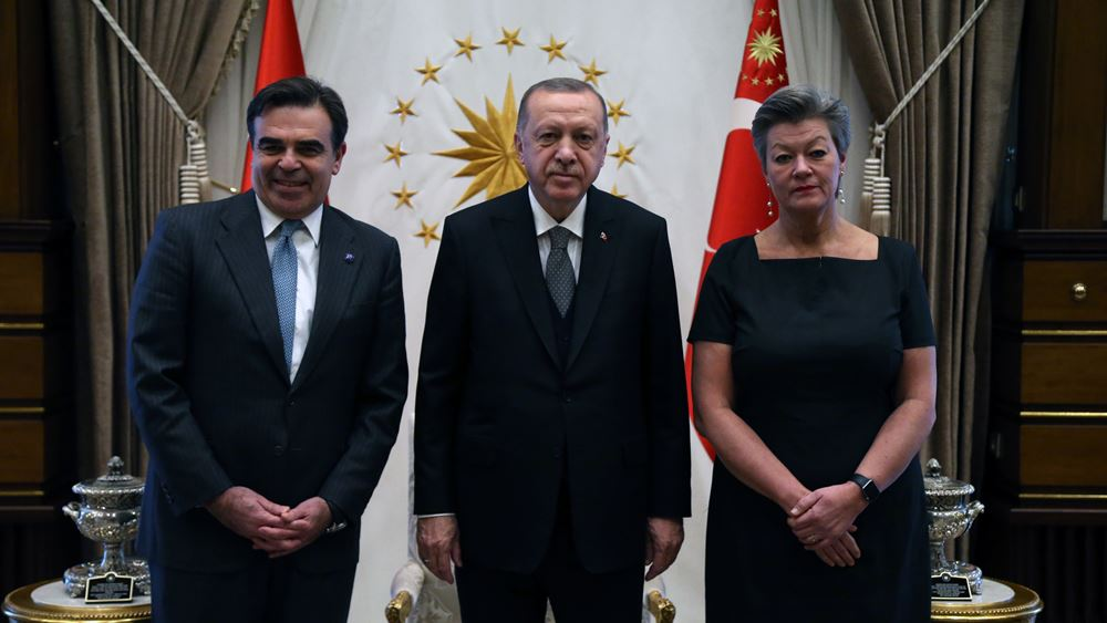 Σχοινάς-Ερντογάν επαναδιατύπωσαν την προσήλωσή τους στη συμφωνία ΕΕ-Τουρκίας για το προσφυγικό