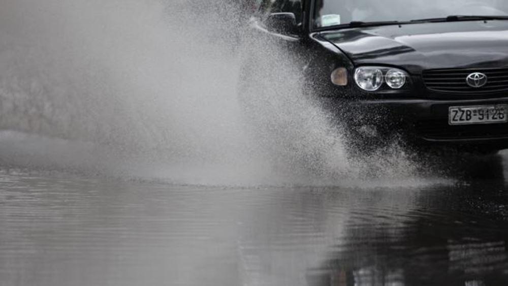 Προσωρινή διακοπή κυκλοφορίας λόγω της έντονης βροχόπτωσης σε Πέλλα και Κιλκίς