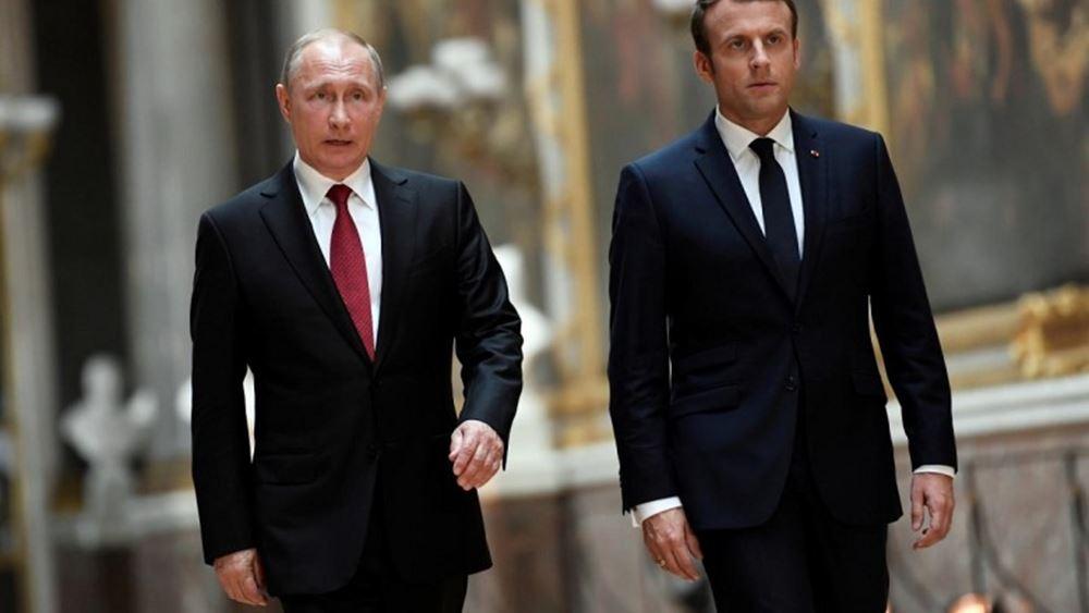 Τηλεφωνική επικοινωνία Μακρόν με Πούτιν