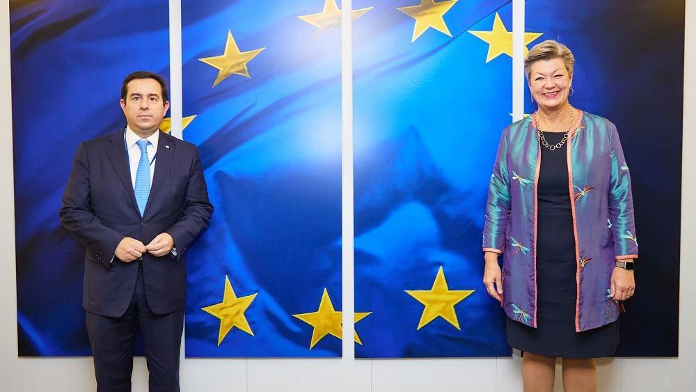 Συνάντηση Ν. Μηταράκη με την Επίτροπο Εσωτερικών Υποθέσεων της ΕΕ Ylva Johansson