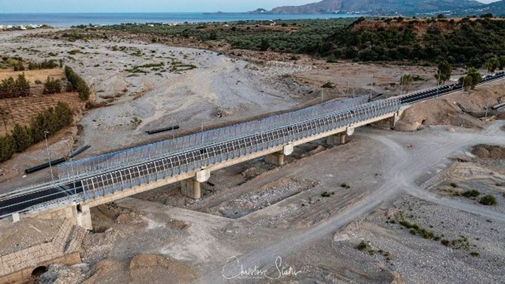 Intrakat: Εγκαινιάστηκε η νέα γέφυρα του ποταμού Μάκαρη στη Ρόδο