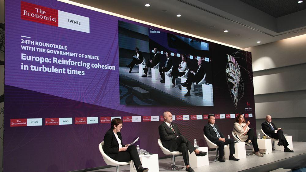 Αντιπαράθεση Ντ. Μπακογιάννη - Εντι Ράμα στο συνέδριο του Economist