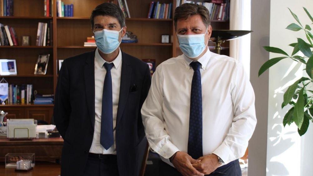 Συνάντηση Μ. Βαρβιτσιώτη με τον Γάλλο πρέσβη στην Ελλάδα