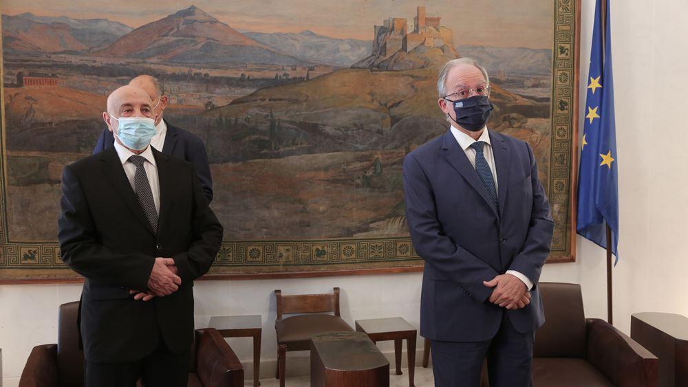 Συνάντηση του Προέδρου της Βουλής με τον Πρόεδρο της Βουλής των Αντιπροσώπων του Κράτους της Λιβύης