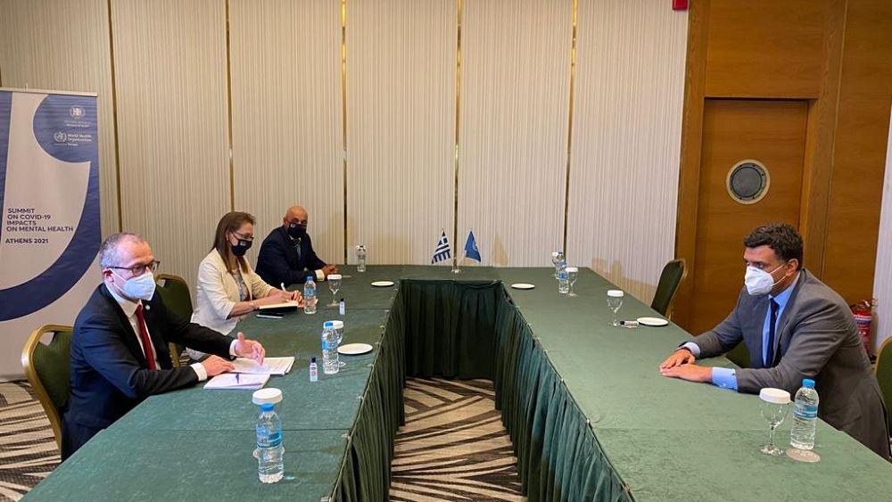 Συνάντηση Β. Κικίλια με τον περιφερειακό διευθυντή Ευρώπης του ΠΟΥ
