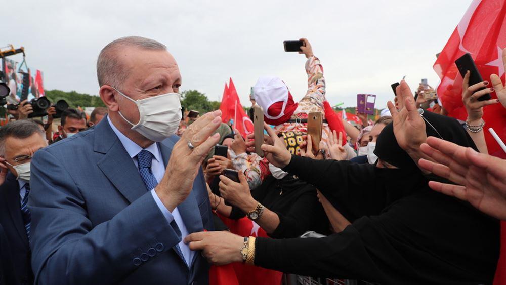 Ερντογάν: Σώσαμε τη χώρα φέρνοντας πίσω στην Τουρκία όλο το χρυσό μας
