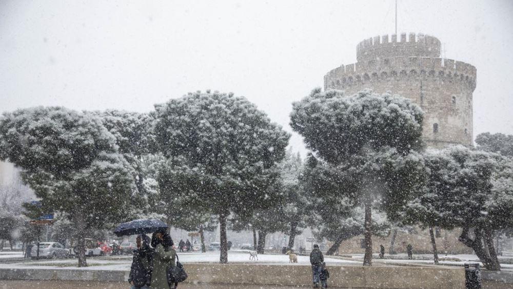 "H ""Υπατία"" προκαλεί το φαινόμενο της παγωμένης βροχής σε Μακεδονία και Θεσσαλία"