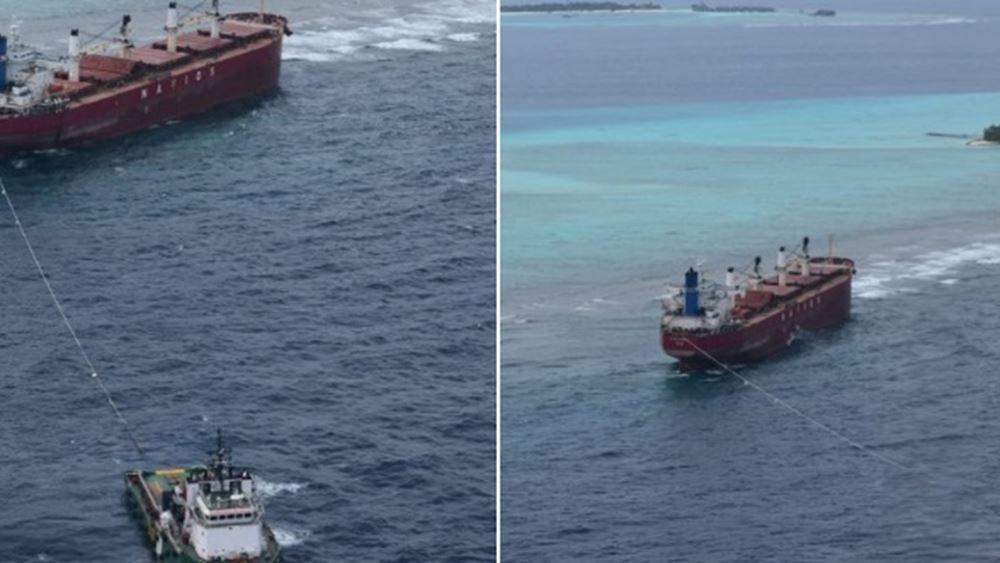 Αποζημίωση ζητούν οι Μαλδίβες μετά την προσάραξη πλοίου της Navios